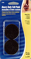 "Waxman 1-3/4"" Brown Heavy Duty Felt Pads"