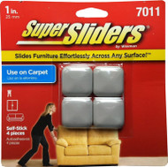"Waxman 1"" Peel n Stick Square Furniture Super Sliders"