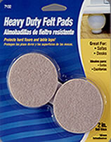 "Waxman 2"" Oatmeal Heavy Duty Felt Pads 6 pieces"