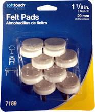 "Waxman 1-1/8"" Oatmeal Heavy Duty Slides/Felt Pads"