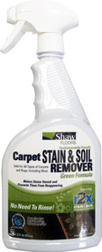 BEST PRICES ON SHAW CLEANER  Shaw Green Carpet Stain & Soil Remover 32 oz spray