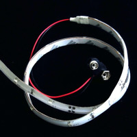 3528 LED strip with leads plus 9 V battery connector