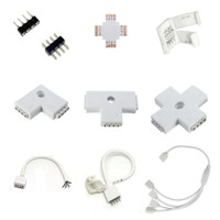 Connector and splitter for RGB LED strip & controller