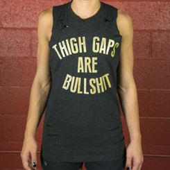 Thigh Gaps Distressed Tank Top