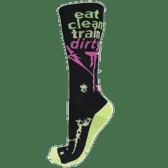 Eat Clean Train Dirty Knee High Sock