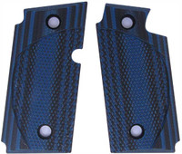 Sig P238 Checkered CC Blue Black G10