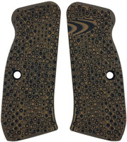 CZ 75 Palm Swell Bogies Brown Black G10