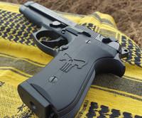 Beretta 92 Engraved Punisher Black