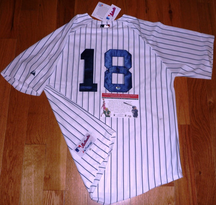 NEW YORK NY YANKEES JOHNNY DAMON AUTOGRAPHED MAJESTIC MLB AUTHENTIC JERSEY Legends COA & Hologram