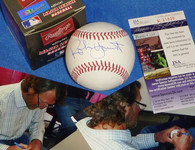 MILWAUKEE BREWERS ROBIN YOUNT AUTOGRAPHED SIGNED MLB OML BASEBALL JSA HOLOGRAM COA NIB with signing photos