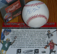 MILWAUKEE BREWERS Ryan Braun 8 AUTOGRAPHED ROOKIE 2007 BASEBALL LEGENDS COA Hologram