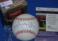 MILWAUKEE BREWERS ROBIN YOUNT HOF 99 AUTOGRAPHED MLB BASEBALL JSA HOLOGRAM COA