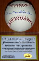 BROOKLYN LA DODGERS EDWIN DONALD DUKE SNIDER AUTHENTIC AUTOGRAPHED MLB BASEBALL ELITE COA with Hologram