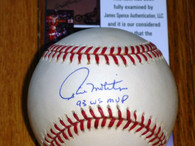 TORONTO BLUE JAYS PAUL MOLITOR 93 WS MVP SIGNED AMERICAN LEAGUE BASEBALL JSA COA