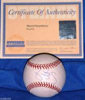 NEW YORK NY METS YANKEES DARRYL STRAWBERRY AUTOGRAPHED AUTO BASEBALL STEINER COA MLB HOLOGRAM