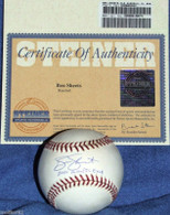 MILWAUKEE BREWERS BEN SHEETS 2000 OLYMPIC GOLD AUTOGRAPHED BASEBALL STEINER COA HOLO MLB HOLOGRAM