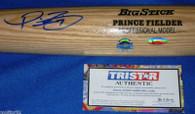 TEXAS RANGERS PRINCE FIELDER AUTOGRAPHED BASEBALL BAT MLB TRISTAR AUTHENTIC COA