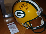 GREEN BAY PACKERS EDDIE LACY 27 AUTOGRAPHED SIGNED NFL Full Size RIDDELL HELMET James Spence JSA  matching numbered hologram and COA