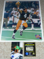 GREEN BAY PACKERS BRETT FAVRE AUTOGRAPHED 16x20 SB XXXI KID PHOTO FARVE HOLO COA