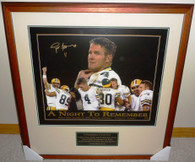 GREEN BAY PACKER BRETT FAVRE AUTOGRAPHED SIGNED LIMITED EDITION 1 of only 100 MONDAY NIGHT FOOTBALL FRAMED 24x20 PHOTO
