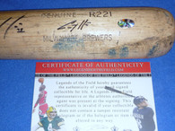 Seattle Mariners Corey Hart Autographed GU Game Used M9 R221 Maple Baseball Bat