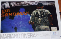 MARIANO RIVERA NY YANKEES AUTOGRAPHED SANDMAN STEPHEN HOLLAND POSTER STEINER MLB HOLGRAM COA