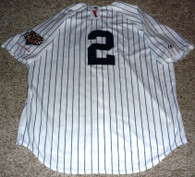 Derek Jeter 2009 World Series Champions Majestic NY Yankees Pinstripe #2 Jersey w tag