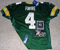 GREEN BAY PACKERS BRETT FAVRE SIGNED SB XXXI MVP INSCRIBED AUTHENTIC JERSEY COA