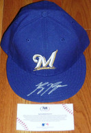 RYAN BRAUN SIGNED MILWAUKEE BREWERS ON FIELD NEW ERA 59 BASEBALL CAP HAT MLB COA HOLOGRAM