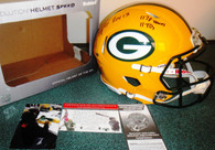 ROY '13 1,178 Yards and 11 TDS Inscribed! LIMITED EDITION of ONLY 2 FS SPEED HELMETS! JUST SIGNED! EDDIE LACY 27 signed GREEN BAY PACKERS REVOLUTION SPEED HELMET, similar to what Eddie wore during his Rookie of the Year Record Breaking Season! Very RARE! ONLY 2 exist! Includes Riddell Original Box and Packaging!