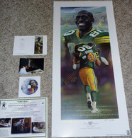 DONALD DRIVER 80 AUTOGRAPHED DRIVEN GREEN BAY PACKERS LITHOGRAPH ANDY GORALSKI SIGNED with DVD COA AUTHENTICATION LE 2/50 AP