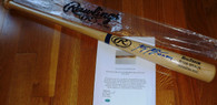 Milwaukee Brewers Ryan Braun Autographed Auto 07 NL ROY Inscribed RB PRO Model Blonde Baseball Bat Mikita Sports Hologram and COA