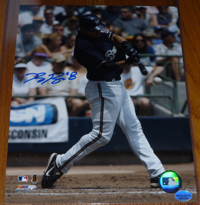 Ryan Braun autographed MLB 8x10 Milwaukee Brewers At Bat photo Mikita Sports Authentic Hologram