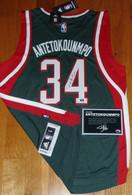 Giannis Antetokounmpo Autographed Adidas Swingman Milwaukee Bucks #34 JERSEY COA