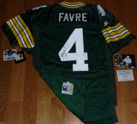 GREEN BAY PACKERS BRETT FAVRE SIGNED 11994 75th Anniversary Patch STARTER PRO LINE AUTHENTIC JERSEY Ball Four COA with Signing photo