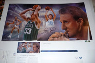 LARRY BIRD SIGNED Autographed Limited Edition #61 of 110 AP signed by Artist Andy GORALSKI CAREER CELTICS SYCAMORES TEAM USA Lithograph with COA