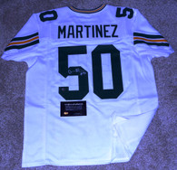 Blake Martinez hand-signed  #50 (jersey number) inscribed  Custom Green   Bay Packers   Road WhiteJersey  with Official Waukesha Sportscards COA &  matching hologram!