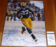 Eddie Lacy hand-signed   16x20 Lambeau Field  Frozen Tundra photo  with James Spence JSA matching numbered hologram and COA  plus Toploader.