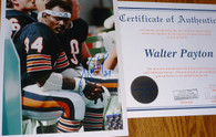Walter Payton Signed 34 Inscribed Chicago Bears   8x10  Famous ROOS Bench Vintage Photo with Walter Payton   Authentic  Celebrity Appearances   Numbered Hologram   matching numbered   COA Authentication.   Includes acrylic toploader!