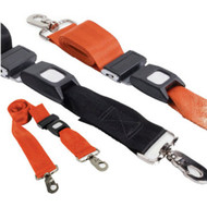 Restraint Strap 150cm with Swivel Clips & Auto Buckles, Black  - Rescuer brand