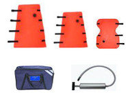 Splint Vacuum Rescuer Semi-Disposable Extremity Set with Case & Pump hook & loop attachments