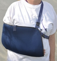 Arm Sling - Two-Tier Net Cloth - Dark Blue