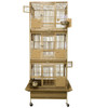 """3 Stackable Bird Cages 26"""" x 22"""" x 67"""""""