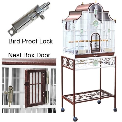 "Luxury Bird Cage 27"" x 16"" x 66"""