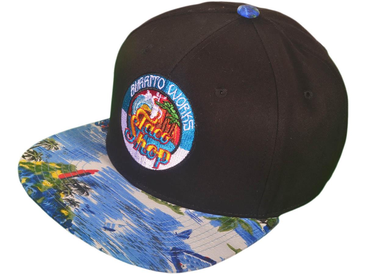 wholesale-cotton-floral-snapback-hats-bk2024bk-fl-blue-customized.jpg