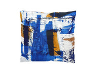 Who said the artwork should go only to walls? This pillow design was inspired by KUBI's abstract paintings where the artist tries to capture the movement and fix it on canvas. Designed in the USA