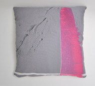 "Decorative pillow, ""Abstract Pink"""