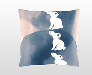 "Decorative Pillow, ""Follow the white rabbit"""