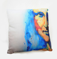 "Decorative pillow, ""Sleeping with Mona Lisa"""