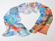"Art Scarf , ""Waverly Corner"",12 x 48 inches"